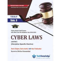 Cyber Law Sem 6  TYBSc-IT Techknowledge Publication