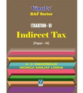 Taxation-IV (Indirect Tax-II) TYBAF Sem 6 Vipul Prakashan