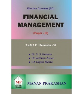 Financial Management (Paper-III) TYBAF Sem 6 Manan Prakashan