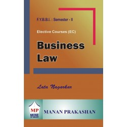 Business Law FYBBI Sem 2 Manan Prakashan