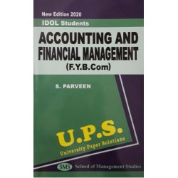 Accounting and Financial Management -I fybcom Sem 1 UPS