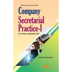 Company Secretarial Practice I sem 3 Sheth Publication