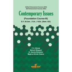 Contemporary Issues (Foundation Course - III) sem 3 Sheth