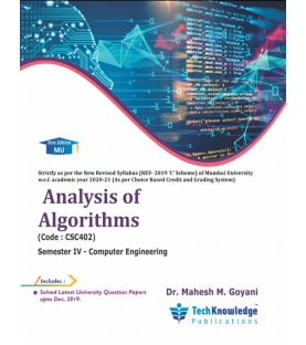 Analysis of Algorithms Second year Sem IV Computer Engg Techknowledge Publication