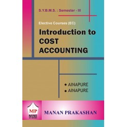 Introduction to Cost Accounting SYBMS Sem Manan Prakashan