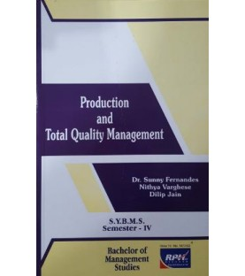 Production and Total Quality Management SYBMS Sem 4 Rishabh Publication