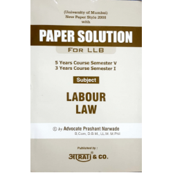 Labour Laws Paper Solution FYBSL and FYLLB  Sem 1 Aarti and Co.