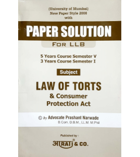 Law of Torts and Consumer Protection Acts Paper Solution FYBSL and FYLLB  Sem 1 Aarti and Com.