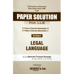 Legal language Paper Solution FYBSL and FYLLB  Sem 1 Aarti and Com.