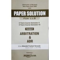 Arbitration And ADR  FYBSL and FYLLB  Sem 1 Aarti law Book