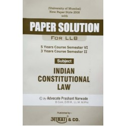 Indian Constitutional Law Paper Solution FYBSL and FYLLB