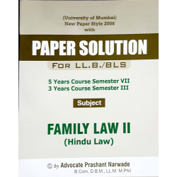 Family Law-II LLB SYBSL and SYLLB  Sem 3 Aarti and Co.