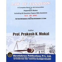Taxation Laws SYBSL and SYLLB  Sem 4 Prakash Mokal Law Books