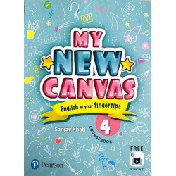 English My Canvas Course Book Class 4