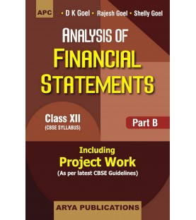 Accountancy Part B Analysis of Financial Statements Class 12 by DK Goel 2021-22