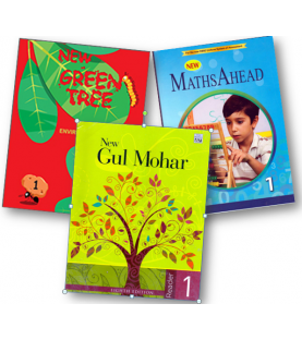 New Gulmohar ,New MathsAhead and New Green Tree  Sem 1 Class 1 (Set of 3 Books)