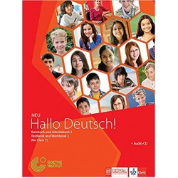 German- Hallo Deutsch -2 Text Book and Workbook 2 Class 7