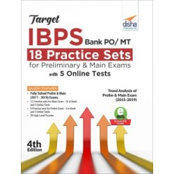 Target IBPS Bank PO/ MT 18 Practice Sets for Preliminary