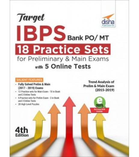 Target IBPS Bank PO/ MT 18 Practice Sets for Preliminary and Main Exams with 5 Online Tests 4th Edition