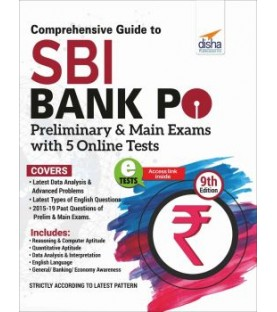 Comprehensive Guide to SBI Bank PO Preliminary and Main Exam with 5 Online Tests (9th Edition)