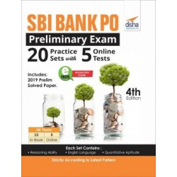 SBI Bank PO Preliminary Exam 20 Practice Sets with 5 Online