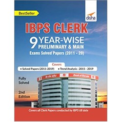 IBPS Clerk 9 Year-wise Preliminary and Main Exams Solved