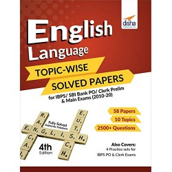 English Language Topic-wise Solved Papers for IBPS/ SBI