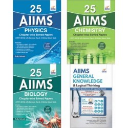 25 AIIMS PCB Chapter-wise Solved Papers  with AIIMS General Knowledge and Logical Thinking
