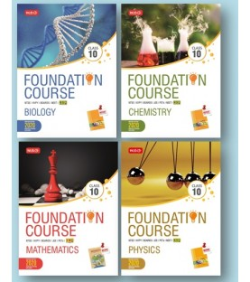 MTG Foundation Course combo (Phy, Chem, Bio, Maths) Class 10 revised 2020 including Practical Paper