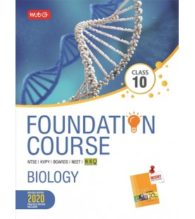MTG Foundation Course Biology Class 10 for NEET / Olympiad / NTSE revised 2020 including Practical Paper