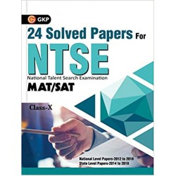 NTSE 24 Solved Papers (SAT/MAT)