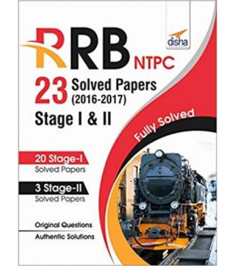 RRB NTPC 23 Solved Papers 2016-17 Stage I and II English Edition