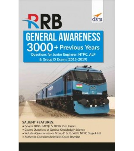 RRB General Awareness 3000+ Previous Years Questions for Junior Engineer, NTPC, ALP and Group D Exams (2015-2017)