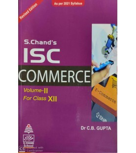 S. Chand's ISC Commerce Vol-2 For Class 12 by C. B. Gupta  2020-21 edition