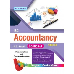 Nootan ISC Accountancy Part-A Class 12 2020-21 by R. S.