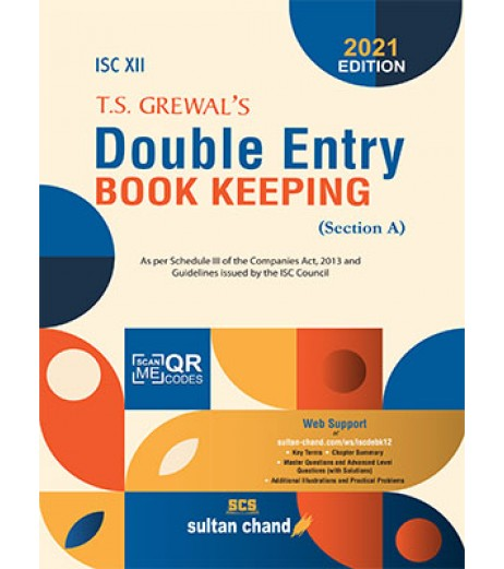 T.S. Grewal's Double Entry Book Keeping ISC Class 12 Section A 2021 edition