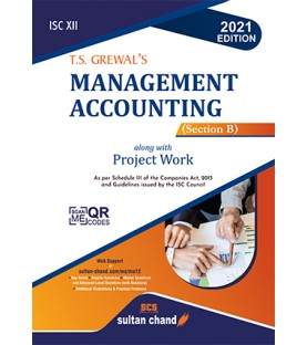 T S Grewals ISC Management Accounting for Class 12 Section B   Latest Edition
