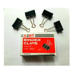 Clips 51 mm  12 pcs Kent file  binder