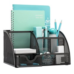 Desk set Metal mesh organizer with drawer 7 compartment