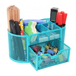 Desk Set 8 x 4 x 4 Metal mesh organizer with drawer 9 compartment