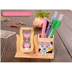 Pen holder 13 x 5 x 10 cm 5 x 1 x 3 cm of wooden stand