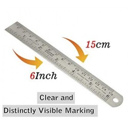 Stainless Steel Scale 15 cms 1 Unit