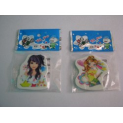 Fashion Girl Eraser set of 2