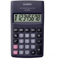 Casio HL 815L BK Portable Basic Calculator 8 Digit