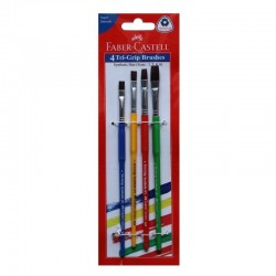 Faber Castell Tri-Grip Flat Synthetic Hair Paint Brushes