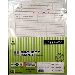 Classmate Project Paper of 50 Sheets 22 x 28 cm  70 GSM One
