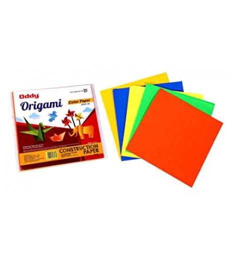 Origami Sheet Single Side Fluorescent 6'x6' 5 Color 20 Sheet (Pack of 20 Sheets)