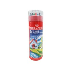 Faber-Castell Erasable Plastic Crayons 12 Pack in Tin