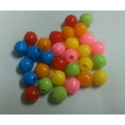 Beads big assorted colors 25