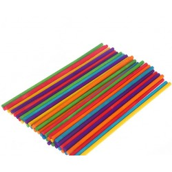 Colored Round Wooden Sticks 10 cms pack of 50